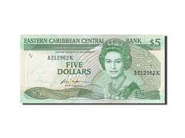 Billet, Etats Des Caraibes Orientales, 5 Dollars, 1986, NEUF - East Carribeans
