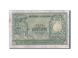 Billet, Italie, 50 Lire, 1951, 1951-12-31, B - 50 Liras