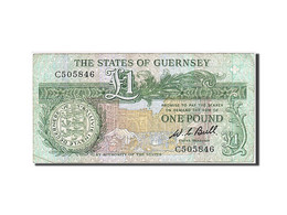 Billet, Guernsey, 1 Pound, 1980-1989, Undated, KM:48a, TTB - Guernsey