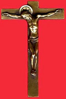 ** CROIX  BRONZE  JESUS ** - Religion & Esotericism