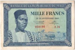 Billet, Mali, 1000 Francs, 1960, 1960-09-22, SUP - Mali