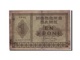 Billet, Norvège, 1 Krone, 1944, Undated, KM:15a, B+ - Norway