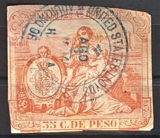 CUBA 1894 - Canceled - Fiscal 35c - Unclassified