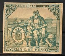CUBA 1888 - Canceled - Fiscal 25c - Unclassified