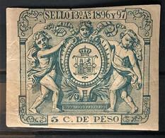 CUBA 1896 - Canceled - Fiscal 5c - Unclassified