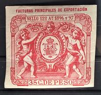 CUBA 1896 - Canceled - Fiscal 35c - Unclassified