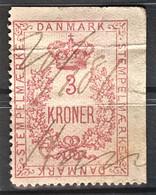 DENMARK - Canceled - Fiscal 3Kr - Steuermarken