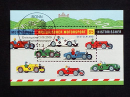DEUTSCHLAND BLOCK 75 GESTEMPELT(USED) HISTORISCHER MOTORSPORT 2009 - Blocks & Kleinbögen