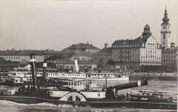 LINZ-BATTELLI SUL DANUBIO-CARTOLINA VERA FOTOGRAFIA(PHOTO)-NON VIAGGIATA-ANNO 194? - Linz