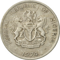 Monnaie, Nigéria, Elizabeth II, 5 Kobo, 1974, TTB, Copper-nickel, KM:9.1 - Nigeria