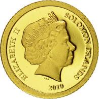 Monnaie, Îles Salomon, Elizabeth II, 5 Dollars, 2010, CIT, FDC, Or, KM:119 - Solomon Islands