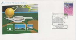 Australia PM 1436 1988 National Tennis Centre,FDI, Souvenir Cover - Marcofilie