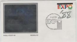 Australia PM 1480 1988 EXPO 88 Brisbane, Official Opening, Souvenir Cover - Marcofilie