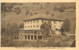 """/ CPA FRANCE 74 """"Montriond Le Lac, Hôtel Du Pont De Fer"""" - Andere Gemeenten"""