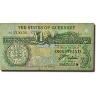 Billet, Guernsey, 1 Pound, 1991, KM:52b, TB - Guernsey