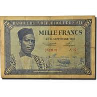Billet, Mali, 1000 Francs, 1960, 1960-09-22, KM:4, B - Mali