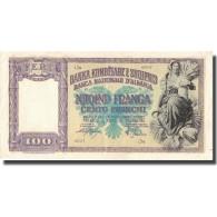 Billet, Albania, 100 Franga, Undated (1945), KM:14, TTB - Albania