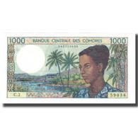 Billet, Comoros, 1000 Francs, KM:8a, NEUF - Comoros