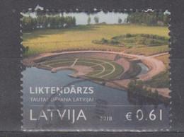 Latvia 2018 Mi 1045 Used Garden Of Destiny - Lettonia