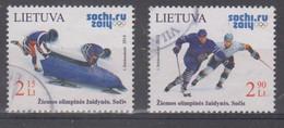 Lithuania 2014 Mi 1150-1 Used Olympic Sochi - Lituania