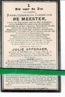 Karel De Meester Echt Julie Affenaer O Veurne 1840 + Veurne 1904 - Images Religieuses
