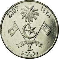 Monnaie, MALDIVE ISLANDS, Rufiyaa, 2007, TTB, Nickel Plated Steel, KM:73b - Maldives