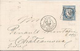 RHONE (68) LAC De LYON LES TERREAUX 2145A Sur CERES Pour CHATEAUROUX - 1849-1876: Classic Period