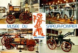 MUSEE DU SAPEUR-POMPIER De MULHOUSE  Pompe à Vapeur - Casques- Aouto-pompe Porteur Echelle - Pompe à Bras - Sapeurs-Pompiers