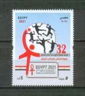 EGYPT / 2021 / MEN'S HANDBALL WORLD CHAMPIONSHIP / WINNER : DENMARK / FLAG / ANKH ( KEY OF LIFE ) / EGYPTOLOGY / SPORT - Ongebruikt