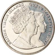 Monnaie, BRITISH VIRGIN ISLANDS, Dollar, 2012, Franklin Mint, Reine Elizabeth à - British Virgin Islands