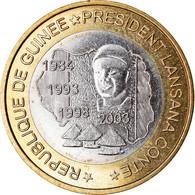 Monnaie, Guinea, 6000 CFA, 2003, Président Lansan Conté, SPL, Bi-Metallic - Guinea