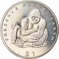 Monnaie, Liberia, Dollar, 1994, Faune Africaine - Gorille, SPL, Copper-nickel - Liberia