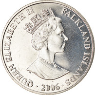 Monnaie, Falkland Islands, Elizabeth II, Crown, 2006, Pobjoy Mint, John Ross Et - Falkland Islands