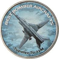 Monnaie, Zimbabwe, Shilling, 2020, Avions - Tupolev Tu-22M, SPL, Nickel Plated - Zimbabwe
