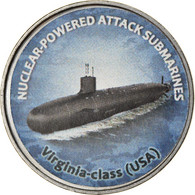 Monnaie, Zimbabwe, Shilling, 2020, Sous-marins - Virginia-Class, SPL, Nickel - Zimbabwe