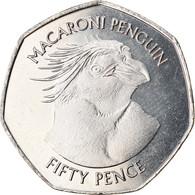 Monnaie, Falkland Islands, 50 Pence, 2018, Pingouins - Manchot Macaroni, FDC - Falkland Islands