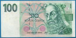 CZECHIA 100 Korun Českých 1993 # A45 428498 P# 5 Karel IV ČESKÁ REPUBLIKA - Czech Republic