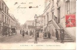 GARCHES (92) La Place Et La Mairie En 1904 (Dos Non Divisé) - Garches