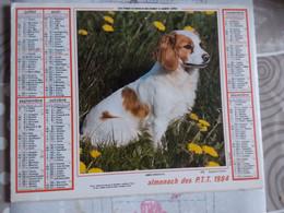 Almanach  Calendrier Poste Chien  Epagneul Breton   Chevaux De Camargue Oller 1984 - Other