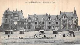 Cpa 44] Loire Atlantique  La Baule-Escoublac Carte Animée Les Chalets De La Plage Les Enfants Les Tentes Abri - La Baule-Escoublac