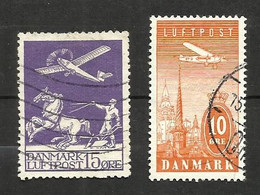 Danemark Poste Aérienne N°2 Cote 65 Euros (6 Offert) - Airmail