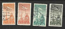 Danemark Poste Aérienne N°6 à 9 Cote 16.50 Euros - Airmail