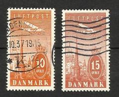 Danemark Poste Aérienne N°6, 7 Cote 6 Euros - Airmail