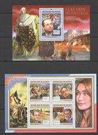 BC176 2011 GUINEE GUINEA FAMOUS EVENTS FRENCH PRESIDENTIAL ELECTION IN 2012 1KB+1BL MNH - Other