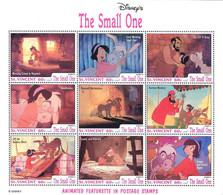 MWD-BK6-374-3 MINT PF/MNH ¤ ST. VINCENT 1992 SHEET ¤ THE SMALL ONE - FRIENDS OF WALT DISNEY - Disney