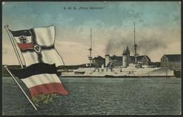 ALTE POSTKARTEN - SCHIFFE KAISERL. MARINE BIS 1918 S.M.S.  Prinz Heinrich, Eine Gebrauchte Karte - Krieg