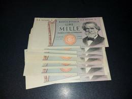 LOT 10 PIECES - ITALY 1000 LIRA -  AUNC - DIFFERENT DATES - 1000 Lire