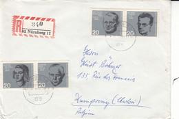 Allemagne - République Fédérale - Lettre Recom De 1964 - Oblit Nürnberg - - Briefe U. Dokumente