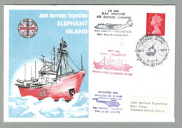 1970 BRITISH ANTARCTIC TERRITORY JOINT SERVICES EXPEDITION - Covers & Documents