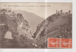 CPA-74-Haute Savoie- MONT SAXONNEX- Les Gorges Du Cé- L'Eglise Et Le Môle- - Otros Municipios